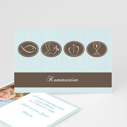 Einladungskarten Kommunion Jungen - Kommunionskarte Bastian 9173
