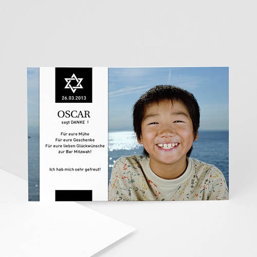 Dankeskarten Bar Mitzwah - Danksagung Bar Mitzvah 918