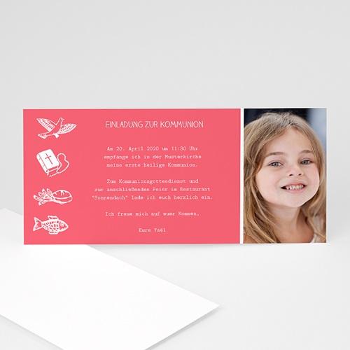 Einladungskarten Kommunion Jungen - Symbole  9185