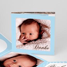 Dankeskarten Geburt Mädchen - Leporello Geburtskarte - 1