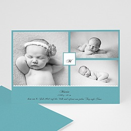 Geburtskarten für Mädchen - Babykarte Camille - 1