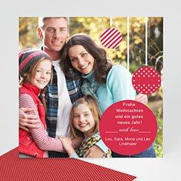 Weihnachtskarten - Weihnachtskarte Weihnachtskugeln - 1
