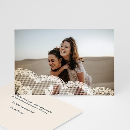 Dankeskarten Standesamt - Hochzeitskarte Romantisch 936