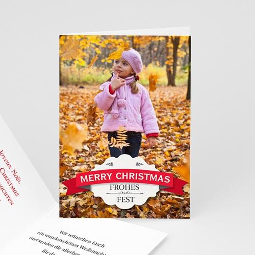 Weihnachtskarten - Weihnachtskarte Xmas 9374