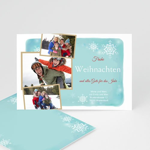 Weihnachtskarten - Schneeflöckchen 9389
