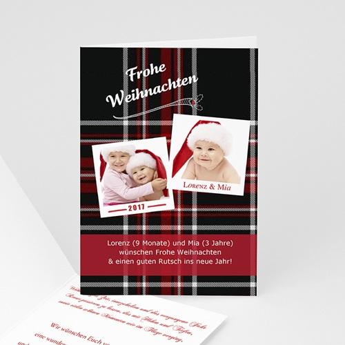 Weihnachtskarten - Gewebtes Motiv 9404