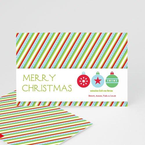 Weihnachtskarten - Weihnachtskarte Gestreift 9443