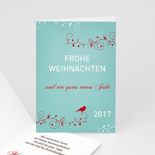 Weihnachtskarten - Weihnachtskarte Vöglein 9447