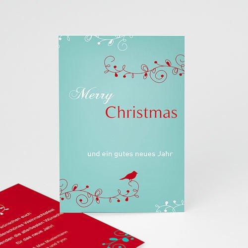 Weihnachtskarten - Weihnachtskarte Vöglein 9451