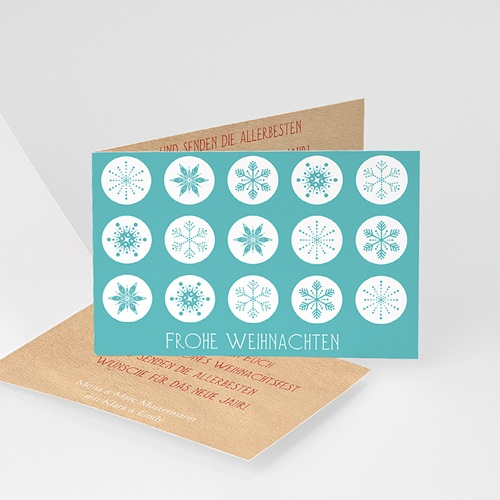Weihnachtskarten - Weihnachtskarte Schneekristalle 9463