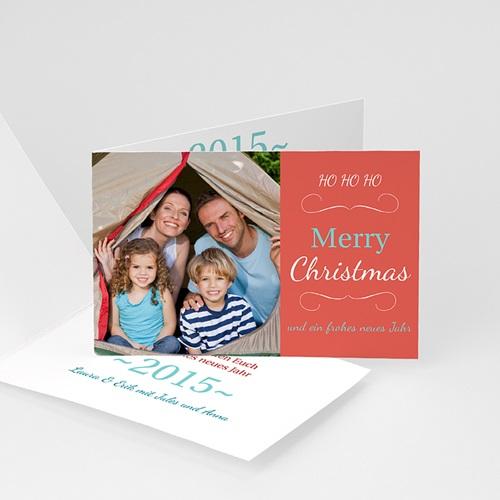 Weihnachtskarten - Weihnachtskarte Pfirsischfarben 9479