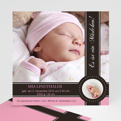 Geburtskarten Mädchen - Lovely Princess Pink 240