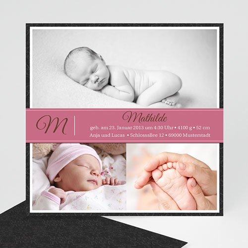 Geburtskarten für Mädchen - Geburtskarte Mathilda 956