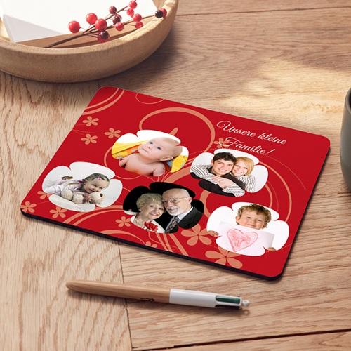 Foto-Mousepad - Verpieltes Design rot 9589