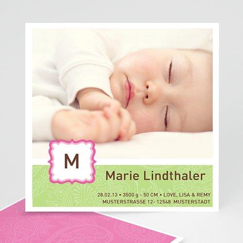 Geburtskarten für Mädchen - Geburtskarte Lilly 972