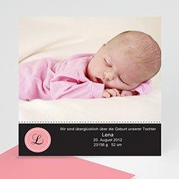 Geburtskarten für Mädchen - Babykarte Lena - 1