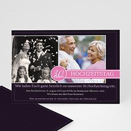 Silberhochzeit und goldene Hochzeit  - Einladungskarte Geburtstag - 1