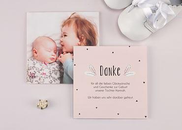 Dankeskarten Geburt