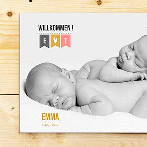 Geburtskarten Zwillinge