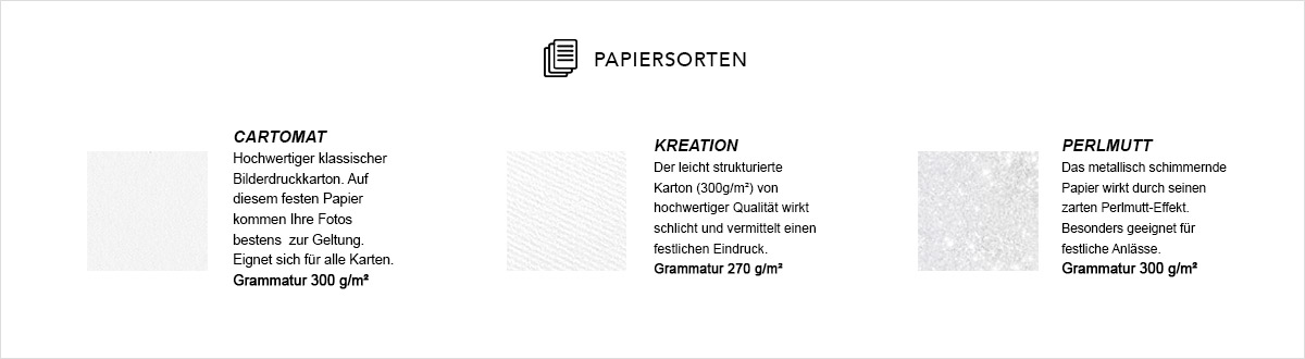 Papierauswahl Carteland