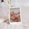 Dankeskarten Geburt kleiner Goldzweig, Foto Porträt