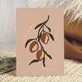 Hochzeitseinladungen Stilisierte Oliven, 15 x 21 cm