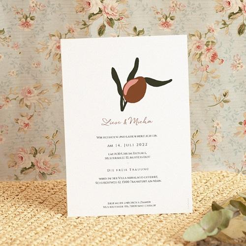 Hochzeitseinladungen Stilisierte Oliven, 15 x 21 cm pas cher