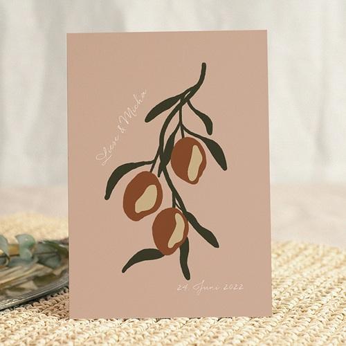 Hochzeitseinladungen Stilisierte Oliven, 15 x 21 cm gratuit