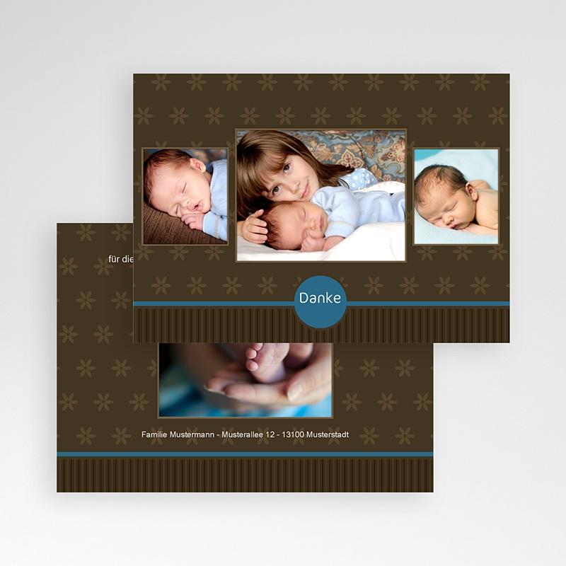 Dankeskarten Geburt für Jungen Bruno pas cher