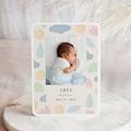 Geburtskarten Abel, Pastelltönen, 12,7 x 17,7 cm