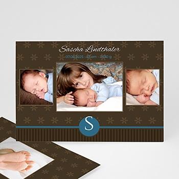 Geburtskarten für Jungen - Babykarte Bruno - 1