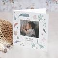 Geburtskarten mit Tieren Tanz der Fische und Korallen, Klappkarte