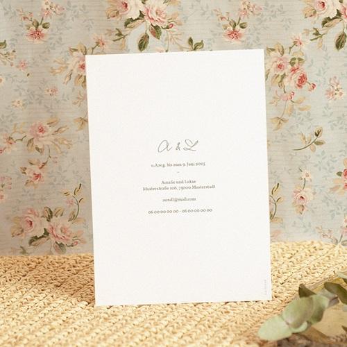 Hochzeitseinladungen Goldkranz, 15 x 21 cm pas cher