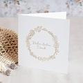 Dankeskarten Hochzeit Goldkranz, Klappkarte, 14 x 14 cm