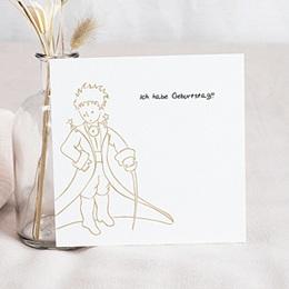 Einladungskarten Geburtstag - Prince & Princesse, dorure - 0