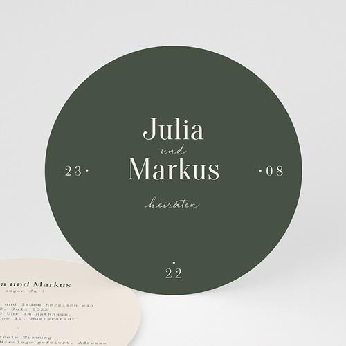 Hochzeitseinladungen Typo & Farbe, ø 14 cm