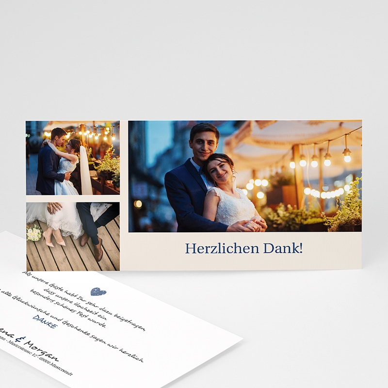 Danksagungskarten Hochzeit  Klassik