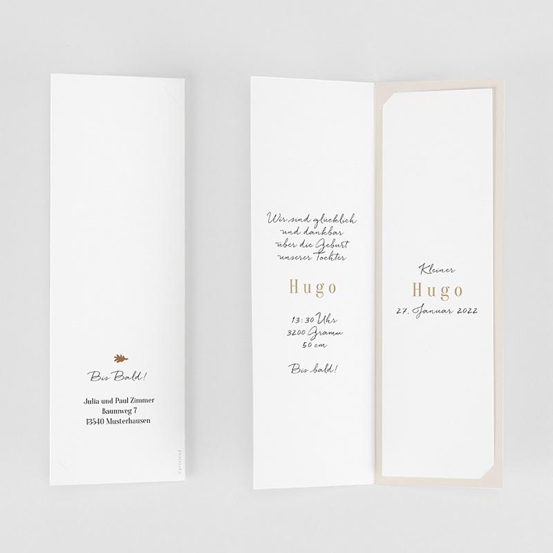 Geburtskarten Kuscheltier Hase, 2in1 mit Lesezeichen gratuit