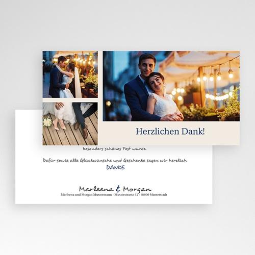 Danksagungskarten Hochzeit  Klassik pas cher