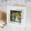 Dankeskarten Hochzeit Blatt Dekoration, Kraft, Klappkarte