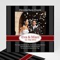 Danksagungskarten Hochzeit  Grau Rot