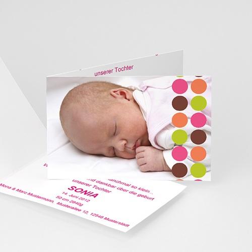 Geburtskarten für Mädchen - Punkte 1100