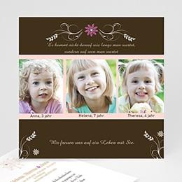 Adoptionskarten für Mädchen Annahme
