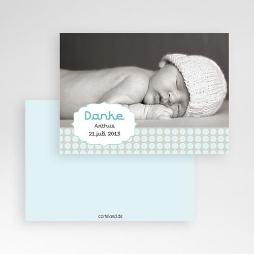 Dankeskarten Geburt Jungen - Oskar 1 1121 test
