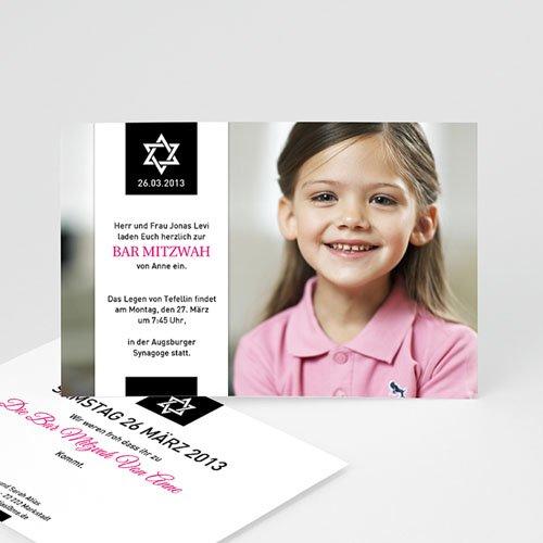 Einladungskarten Bar Mitzwah Elias