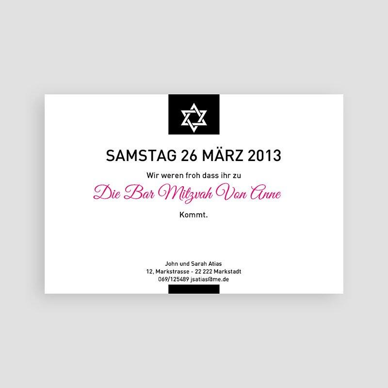 Einladungskarten Bar Mitzwah Elias pas cher