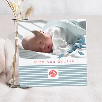 Einladungskarten Taufe Mädchen - Taufkarte Louis - 1