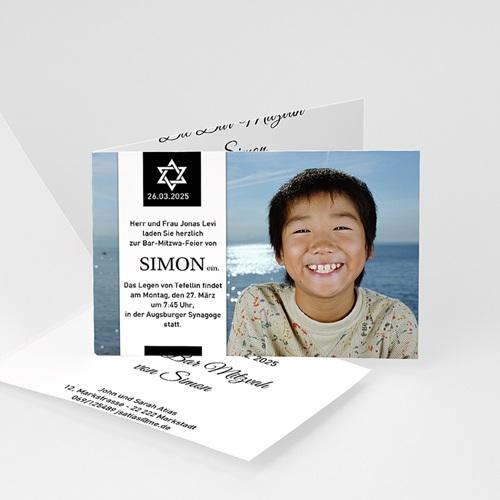 Einladungskarten Bar Mitzwah Sabbat