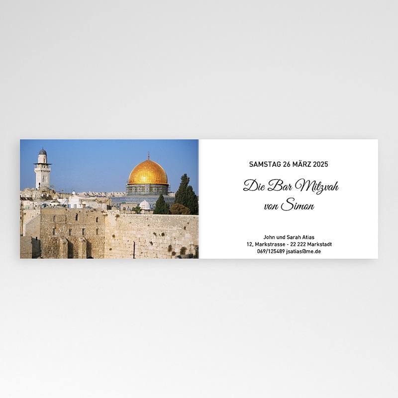 Einladungskarten Bar Mitzwah Sabbat pas cher