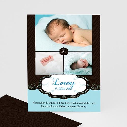 Dankeskarten Geburt Jungen - Sven 1180 thumb
